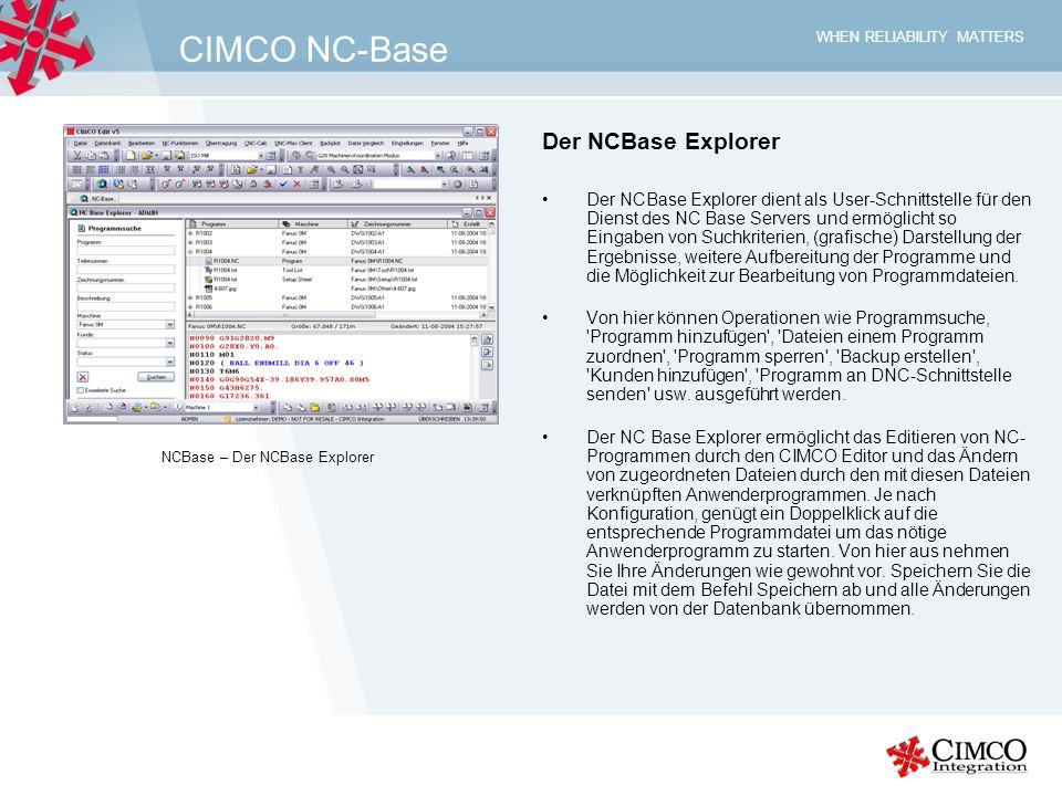 CIMCO NC-Base Der NCBase Explorer