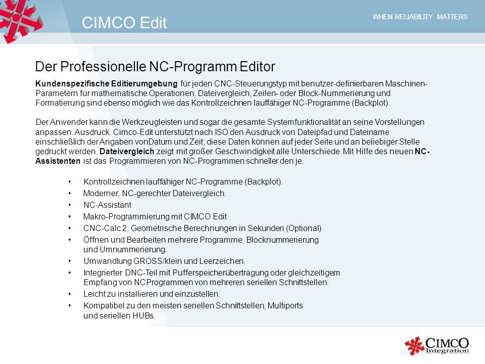 CIMCO Edit Der Professionelle NC-Programm Editor