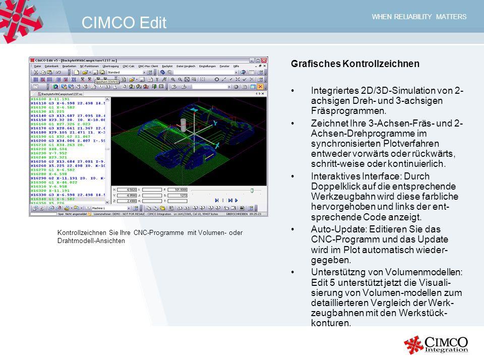 CIMCO Edit Grafisches Kontrollzeichnen