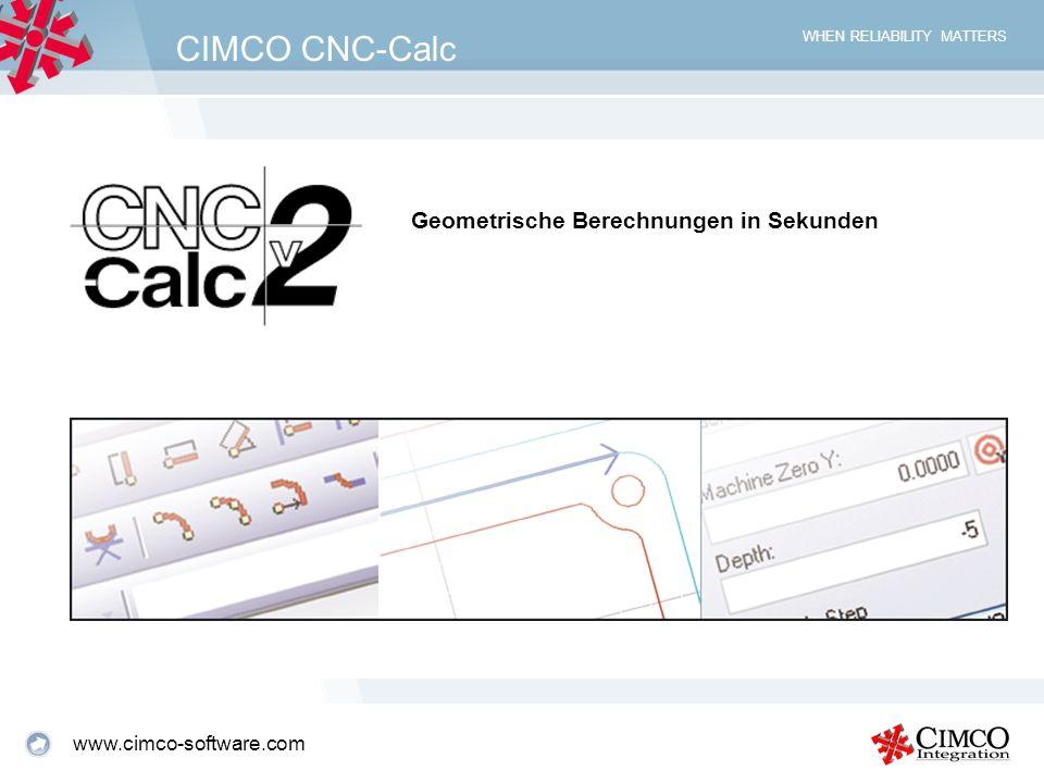 CIMCO CNC-Calc Geometrische Berechnungen in Sekunden