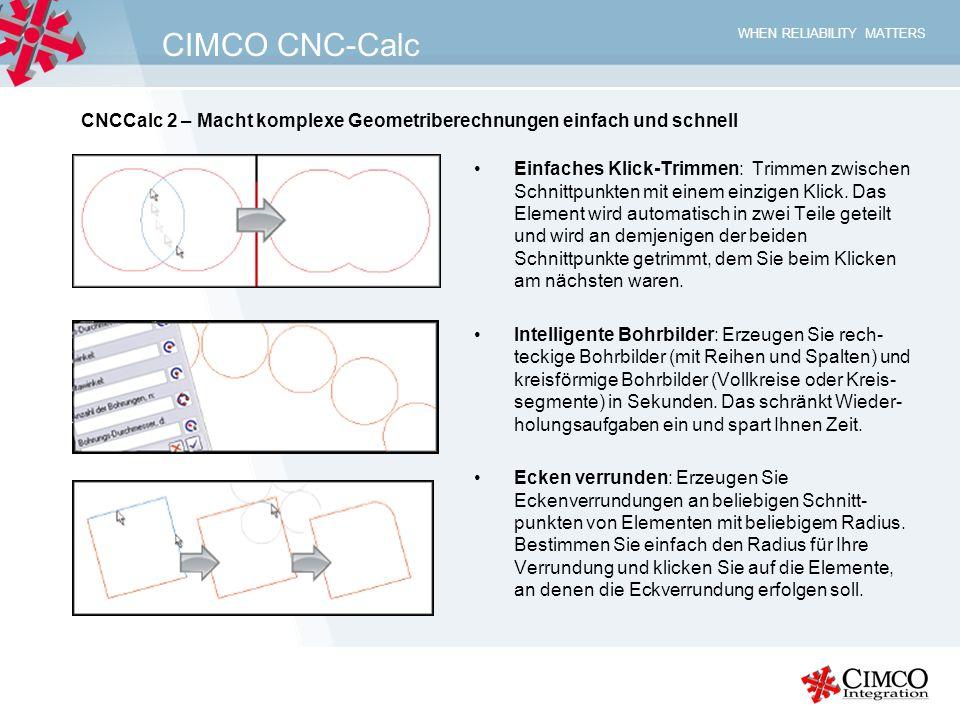 CIMCO CNC-Calc CNCCalc 2 – Macht komplexe Geometriberechnungen einfach und schnell.