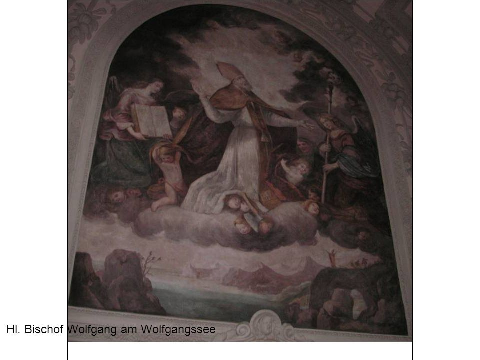Hl. Bischof Wolfgang am Wolfgangssee