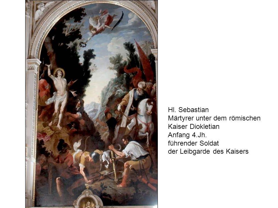 Hl. Sebastian Märtyrer unter dem römischen. Kaiser Diokletian.