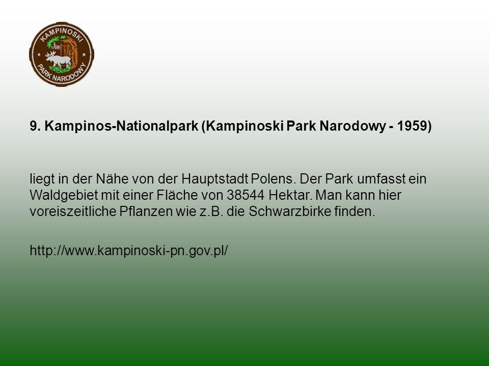 9. Kampinos-Nationalpark (Kampinoski Park Narodowy - 1959)