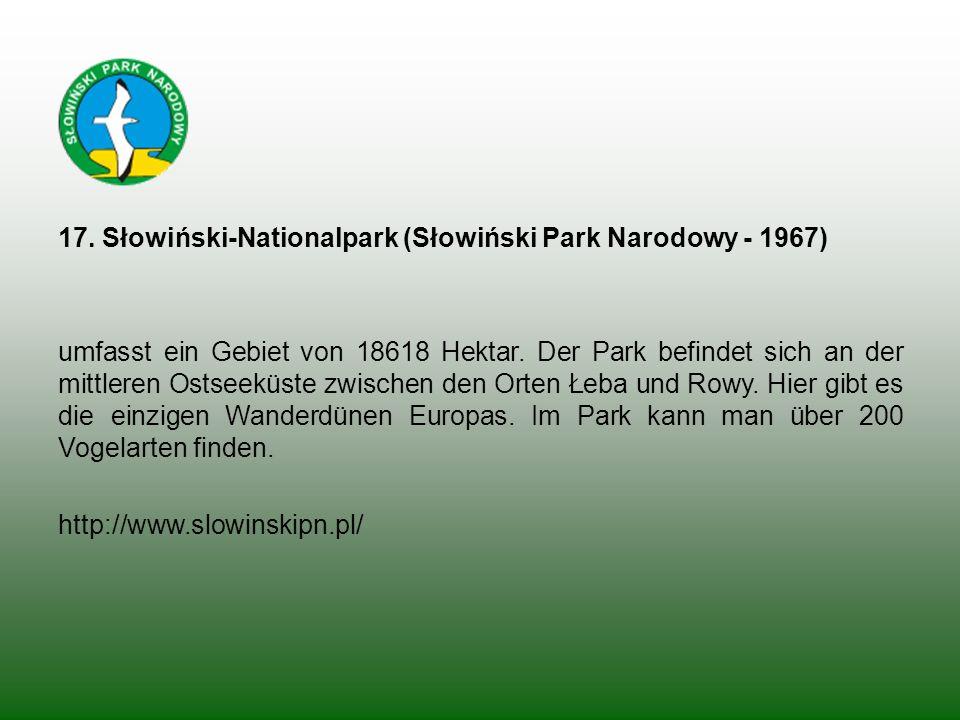 17. Słowiński-Nationalpark (Słowiński Park Narodowy - 1967)