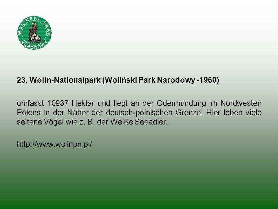 23. Wolin-Nationalpark (Woliński Park Narodowy -1960)