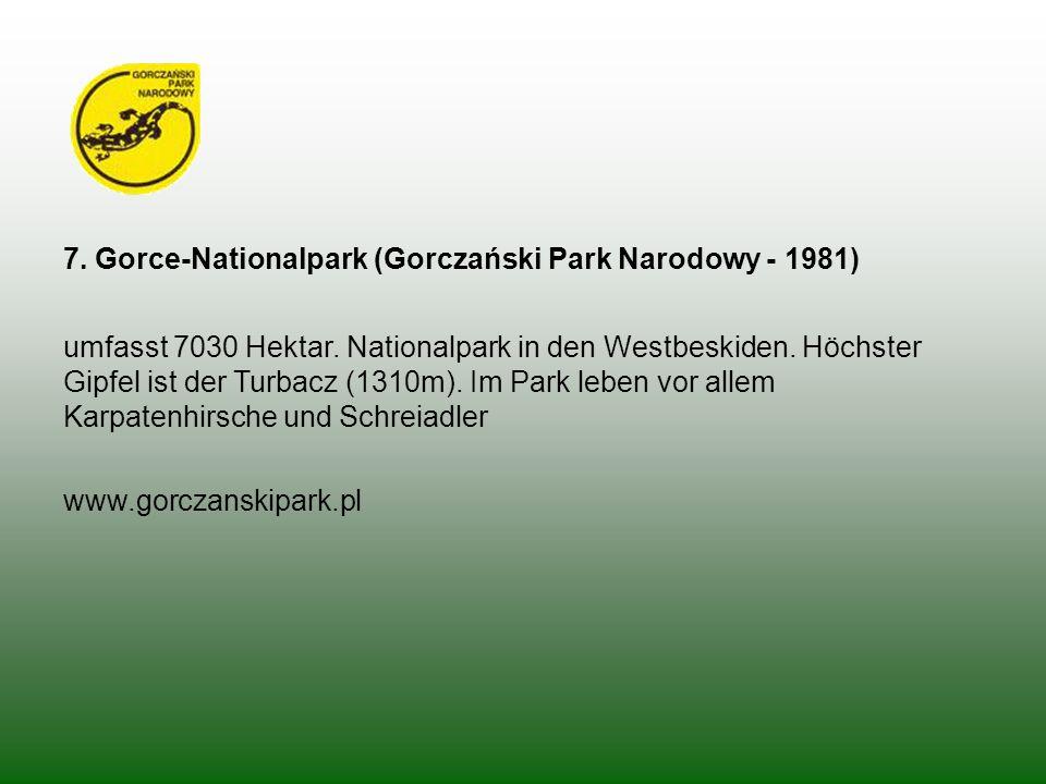 7. Gorce-Nationalpark (Gorczański Park Narodowy - 1981)