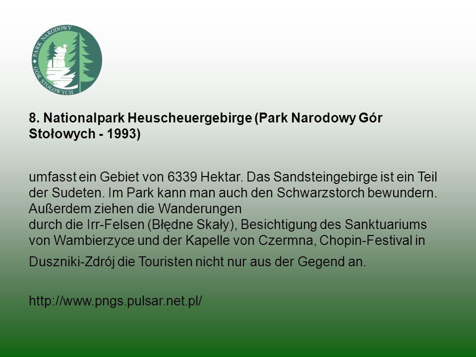 8. Nationalpark Heuscheuergebirge (Park Narodowy Gór Stołowych - 1993)
