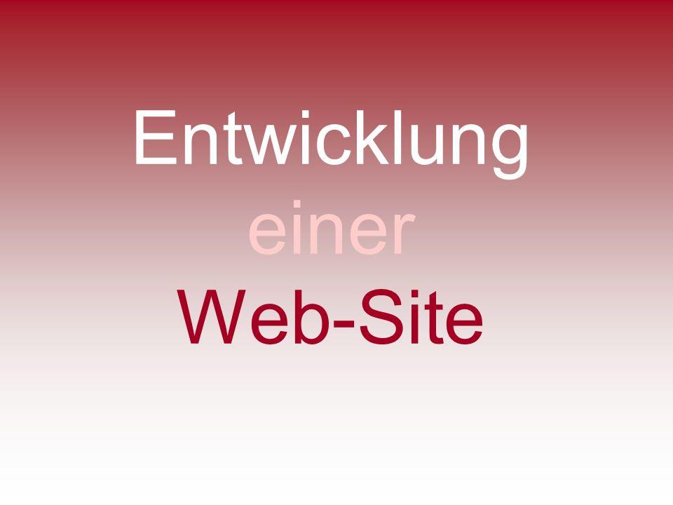 Entwicklung einer Web-Site