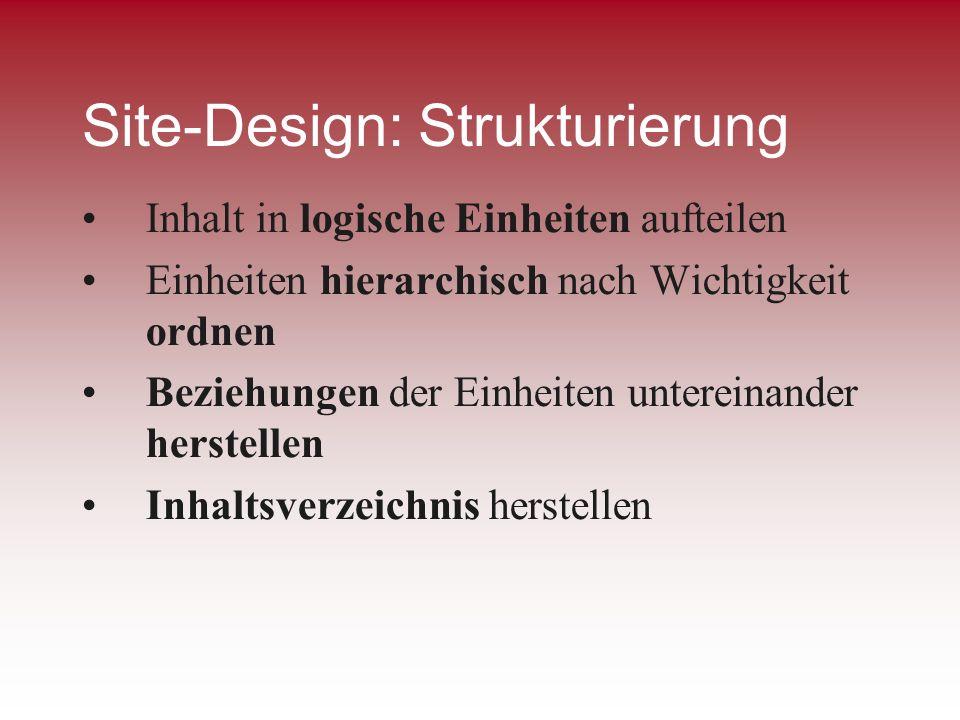 Site-Design: Strukturierung