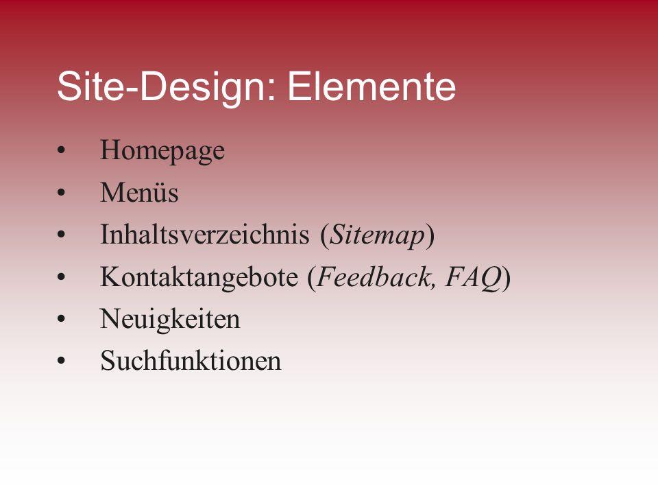 Site-Design: Elemente