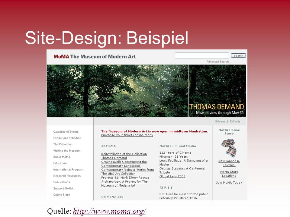 Site-Design: Beispiel