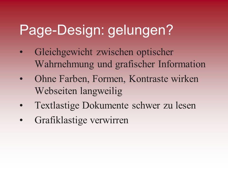 Page-Design: gelungen
