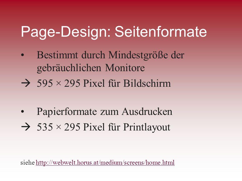 Page-Design: Seitenformate