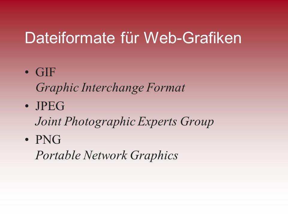Dateiformate für Web-Grafiken