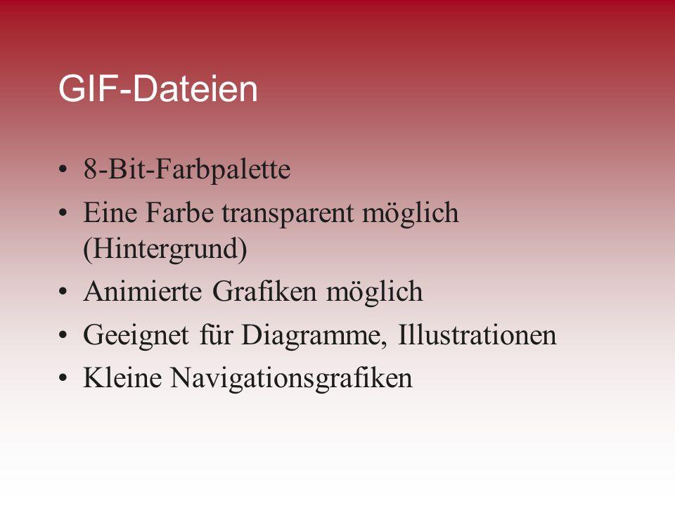 GIF-Dateien 8-Bit-Farbpalette