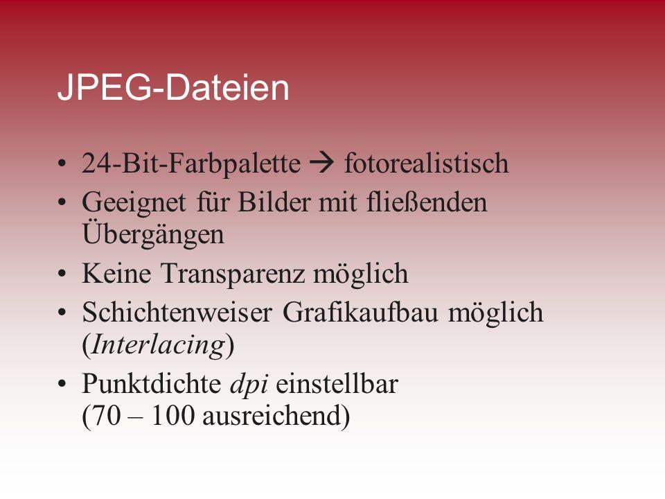 JPEG-Dateien 24-Bit-Farbpalette  fotorealistisch