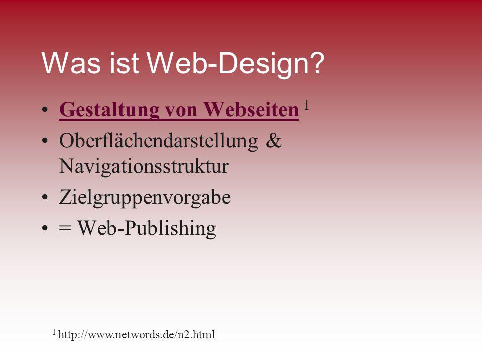 Was ist Web-Design Gestaltung von Webseiten 1