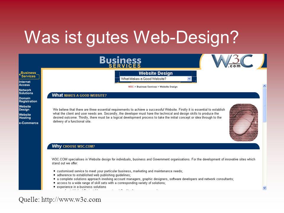 Was ist gutes Web-Design