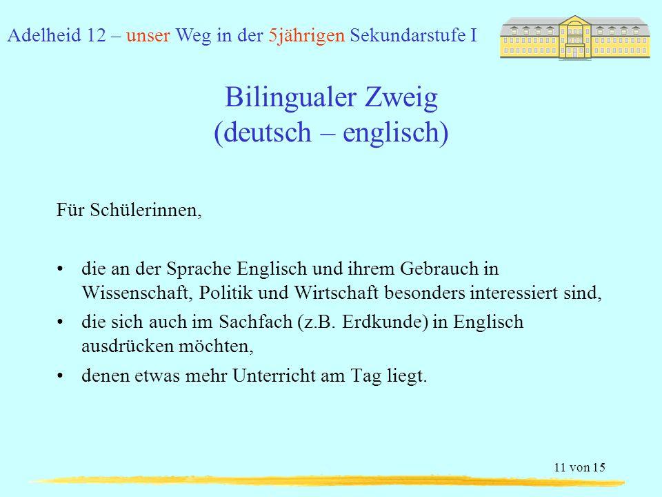 Bilingualer Zweig (deutsch – englisch)