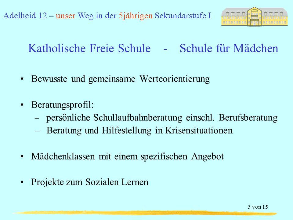 Katholische Freie Schule - Schule für Mädchen