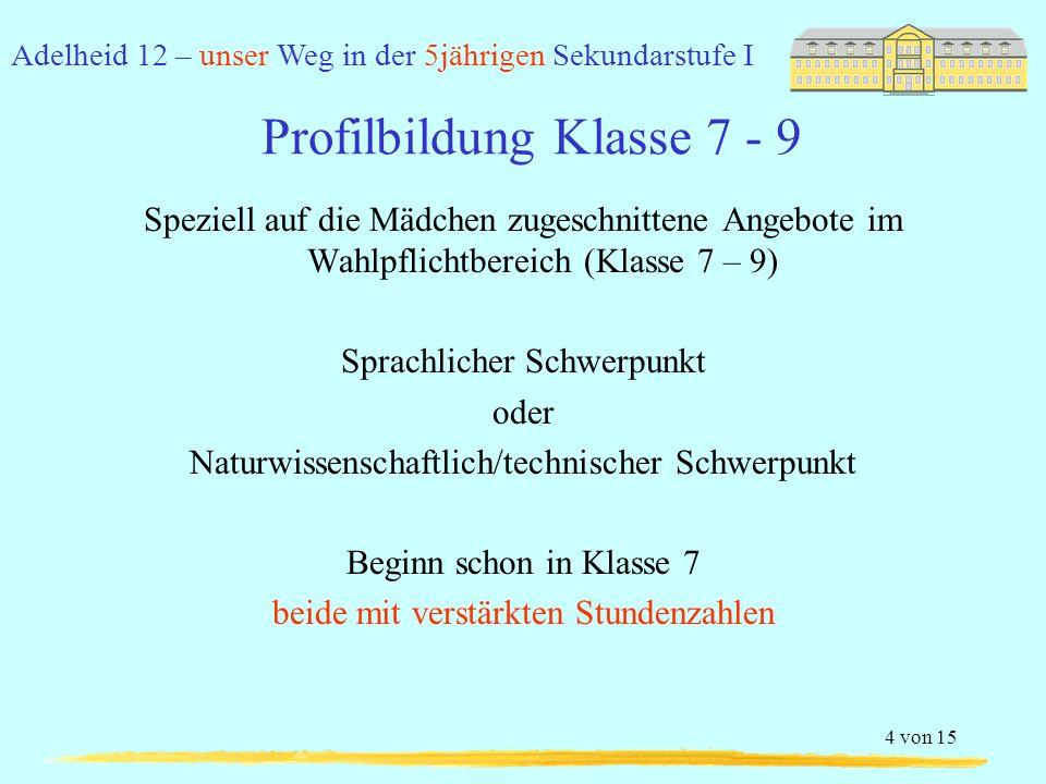 Profilbildung Klasse 7 - 9