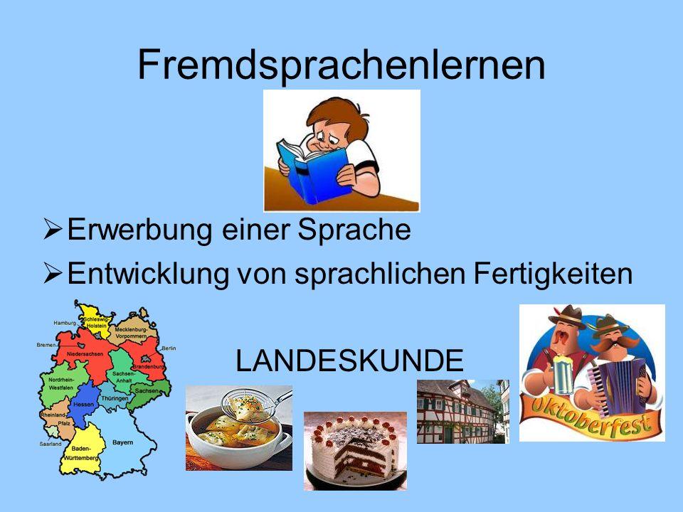 Fremdsprachenlernen Erwerbung einer Sprache