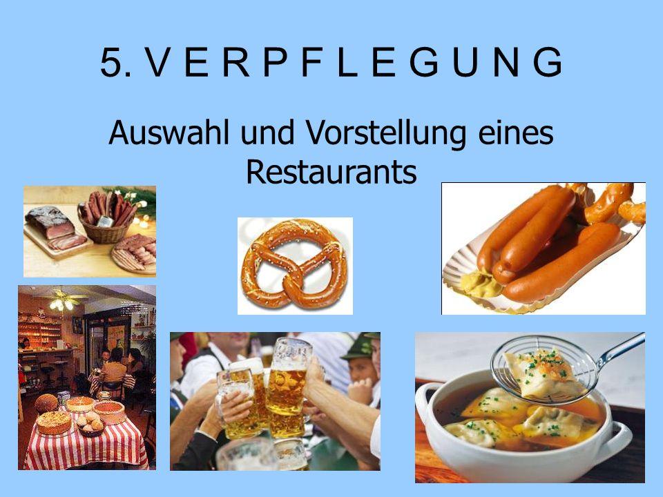 Auswahl und Vorstellung eines Restaurants