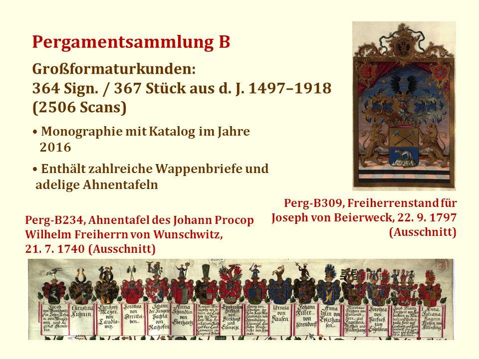Pergamentsammlung B Großformaturkunden: