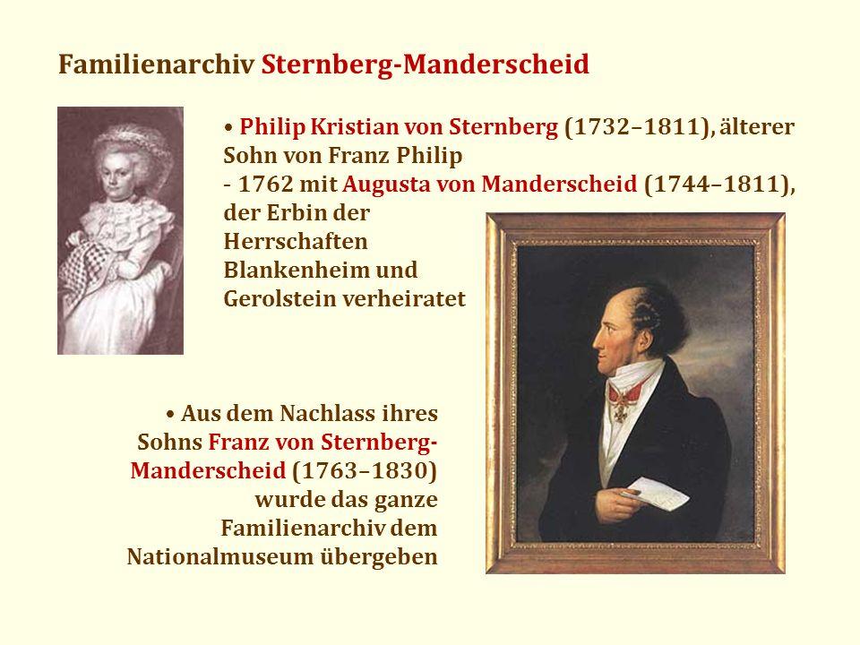 Familienarchiv Sternberg-Manderscheid