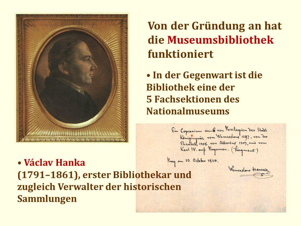 Von der Gründung an hat die Museumsbibliothek funktioniert