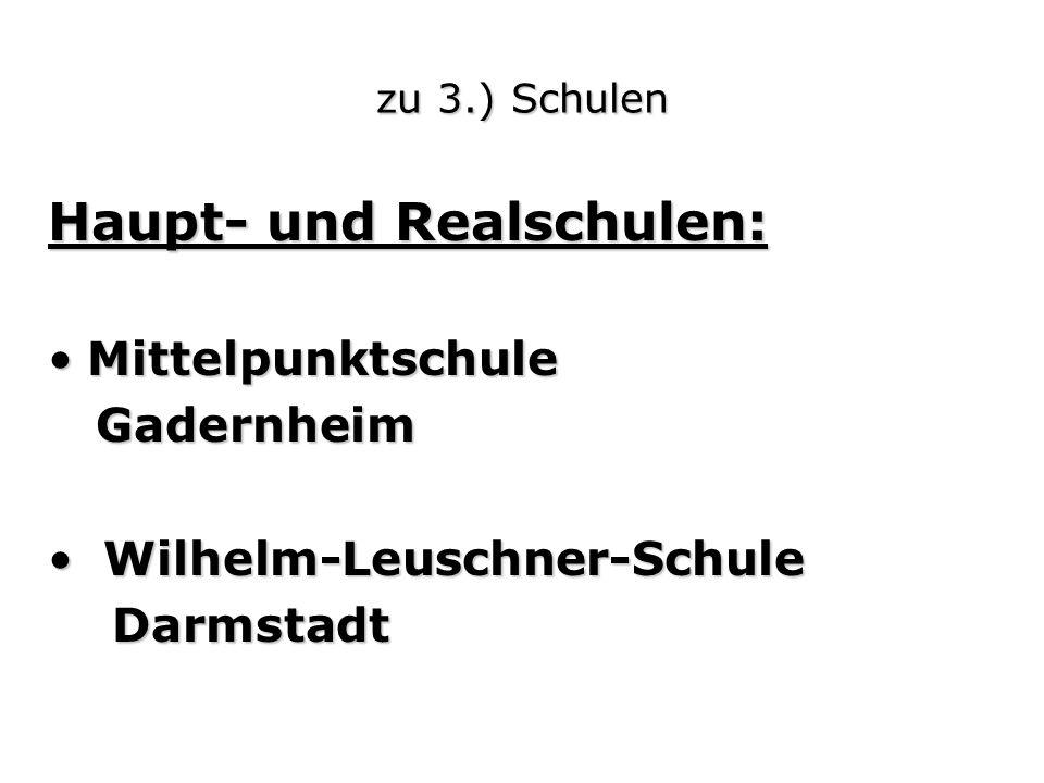 Haupt- und Realschulen: