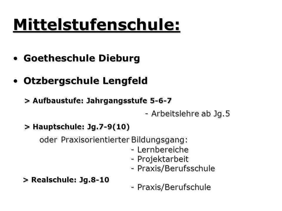 Mittelstufenschule: > Aufbaustufe: Jahrgangsstufe 5-6-7