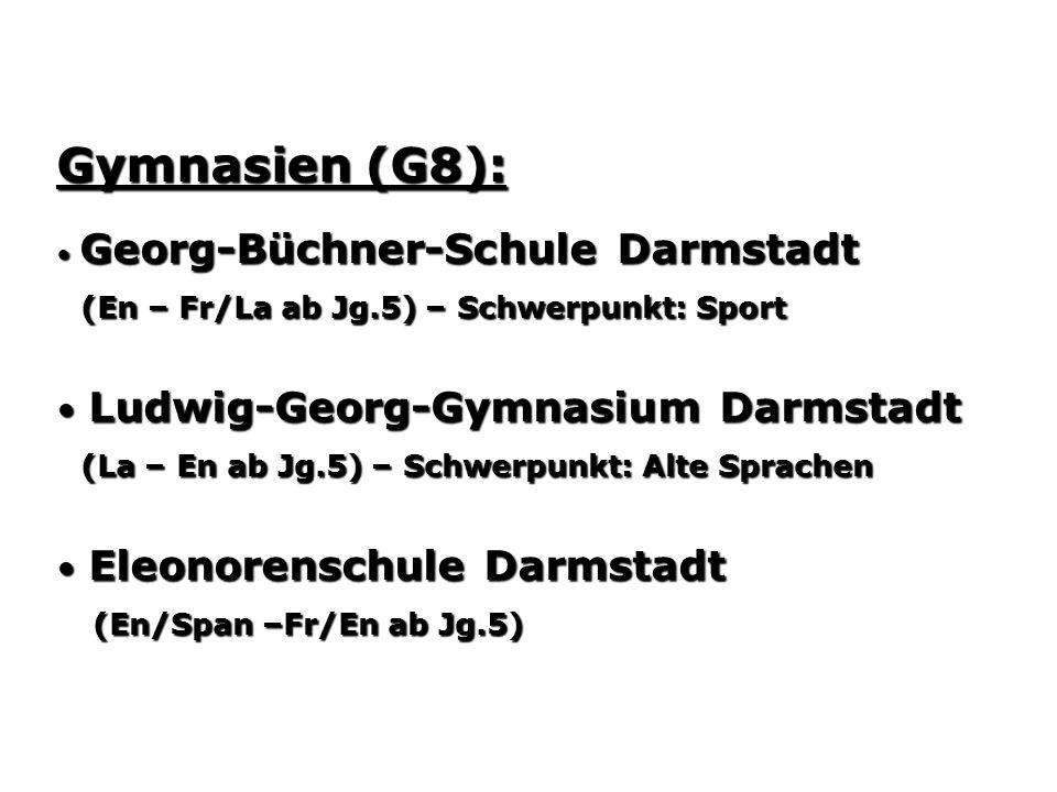 Gymnasien (G8): (En – Fr/La ab Jg.5) – Schwerpunkt: Sport