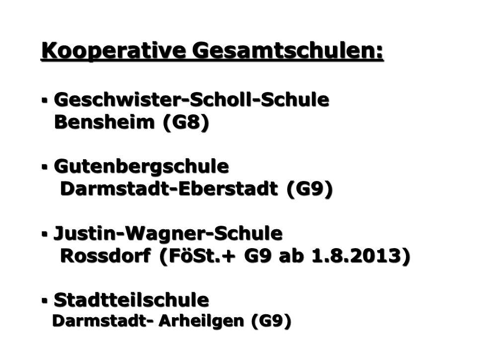 Kooperative Gesamtschulen: