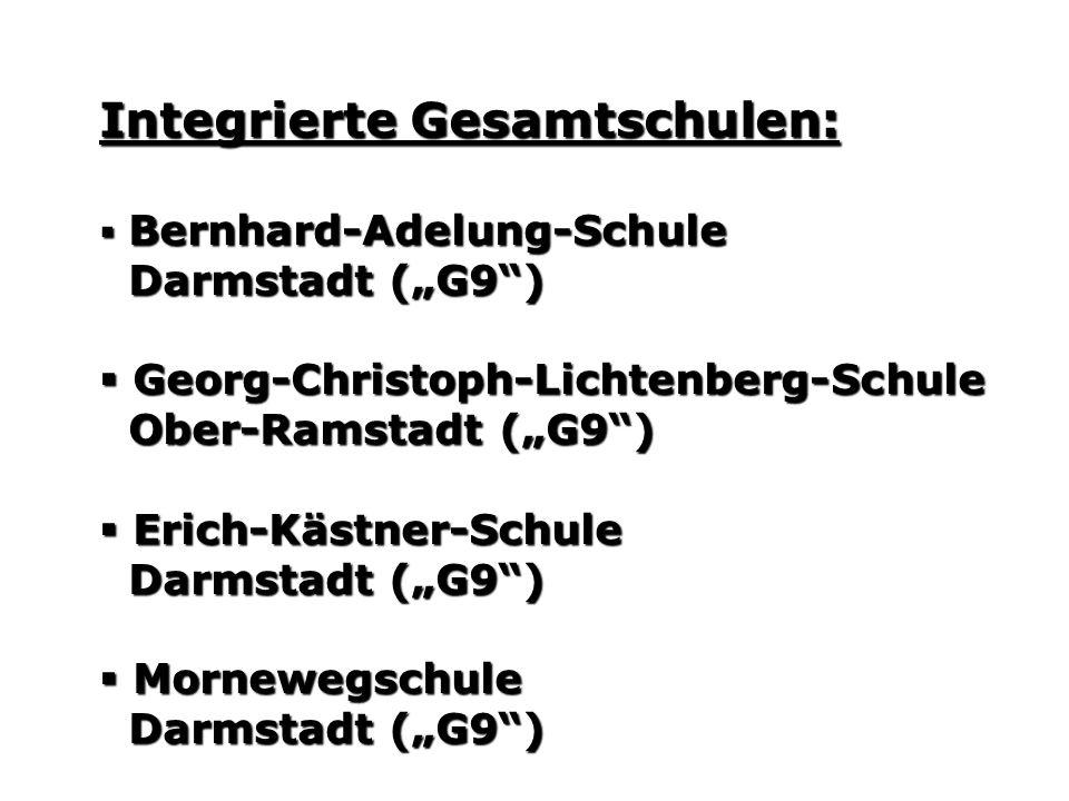 Integrierte Gesamtschulen: