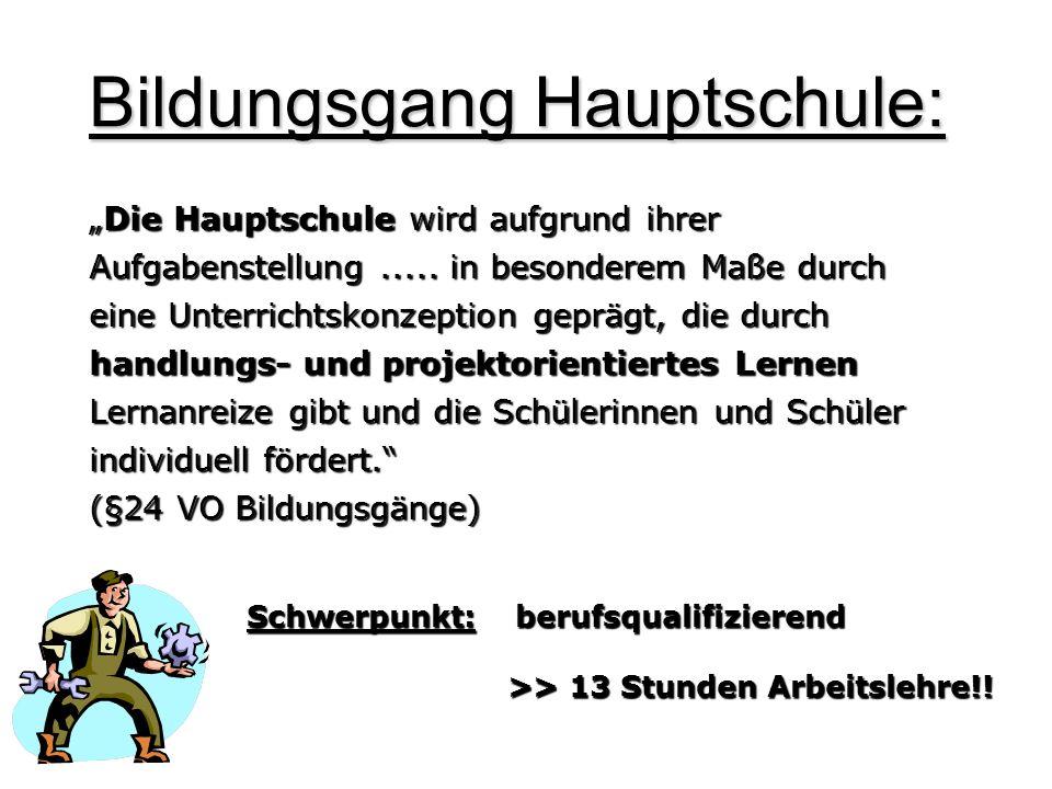 Bildungsgang Hauptschule: