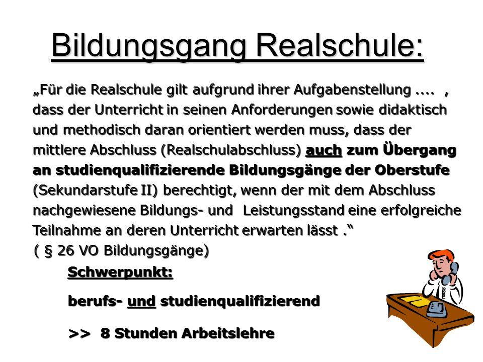 Bildungsgang Realschule: