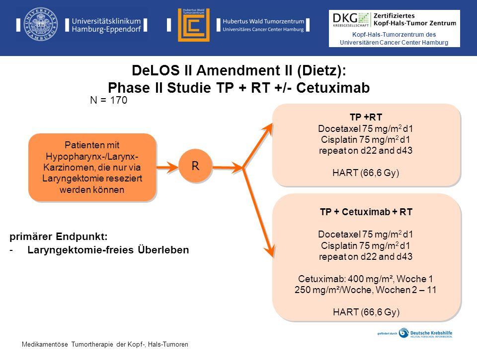 DeLOS II Amendment II (Dietz): Phase II Studie TP + RT +/- Cetuximab