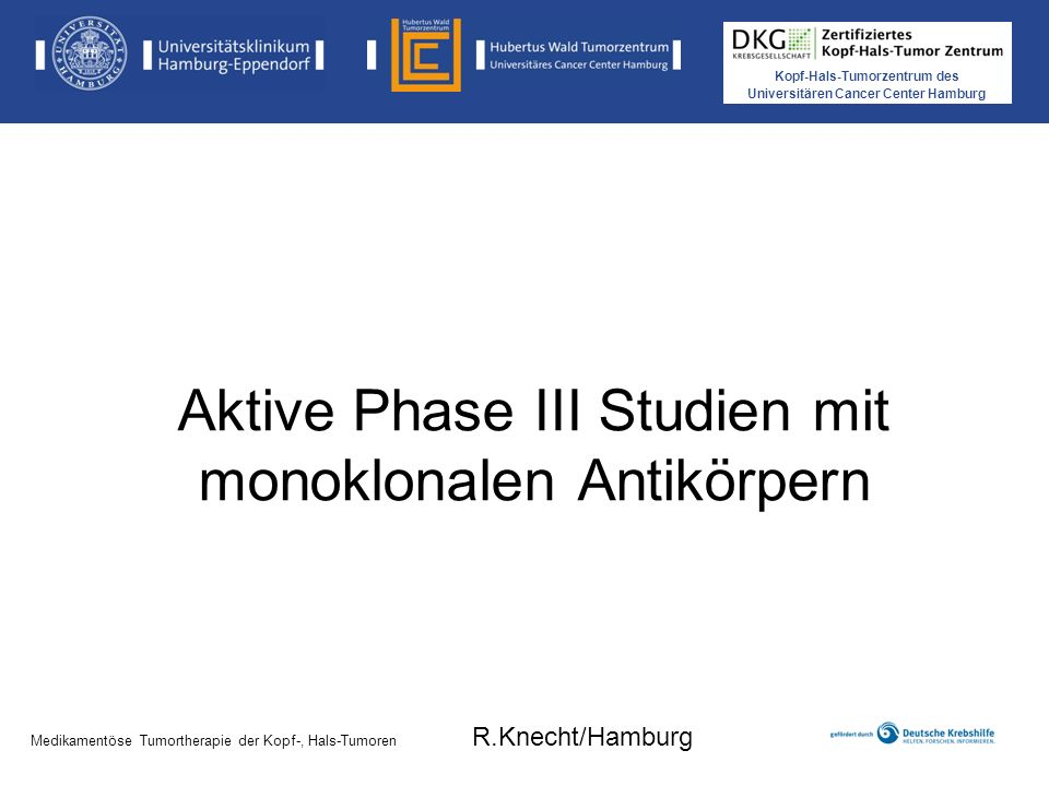 Aktive Phase III Studien mit monoklonalen Antikörpern