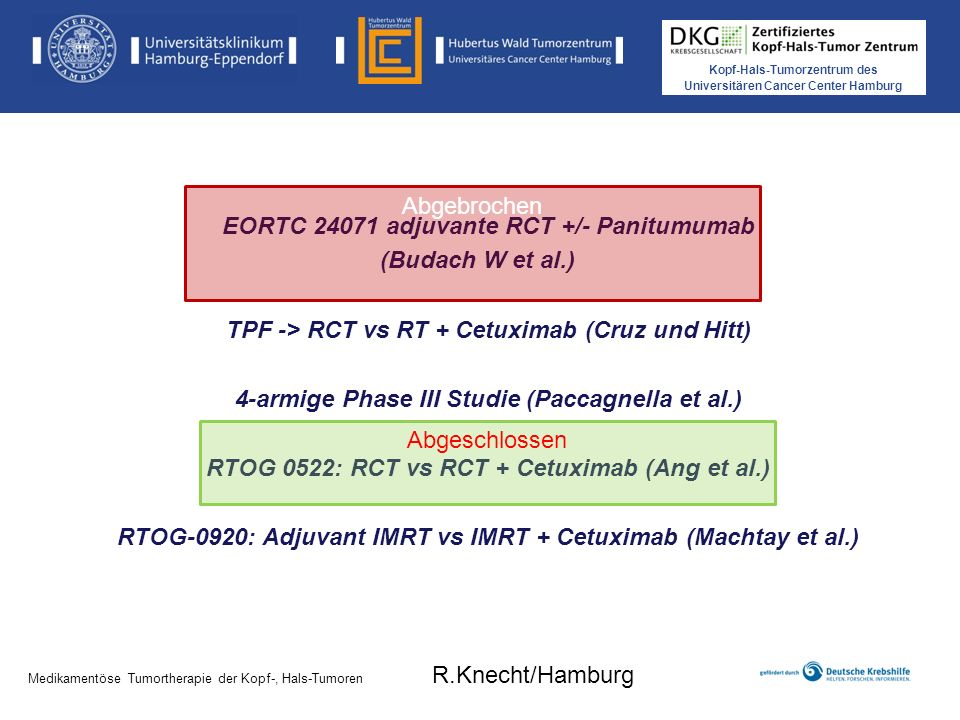 EORTC 24071 adjuvante RCT +/- Panitumumab (Budach W et al.)