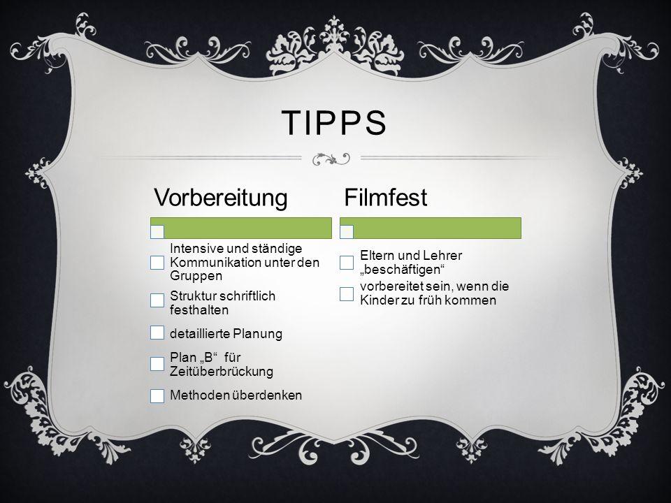 Tipps Vorbereitung Filmfest