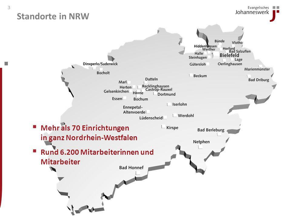Standorte in NRW Mehr als 70 Einrichtungen in ganz Nordrhein-Westfalen