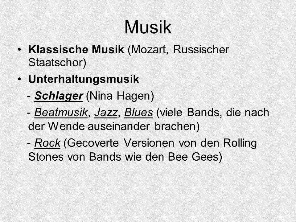 Musik Klassische Musik (Mozart, Russischer Staatschor)