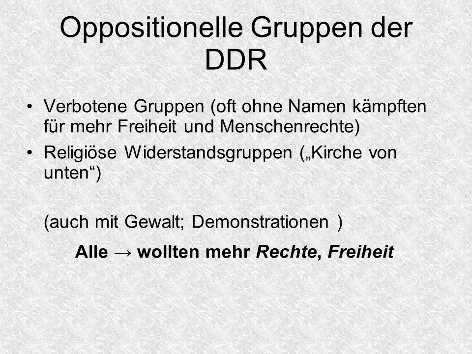 Oppositionelle Gruppen der DDR