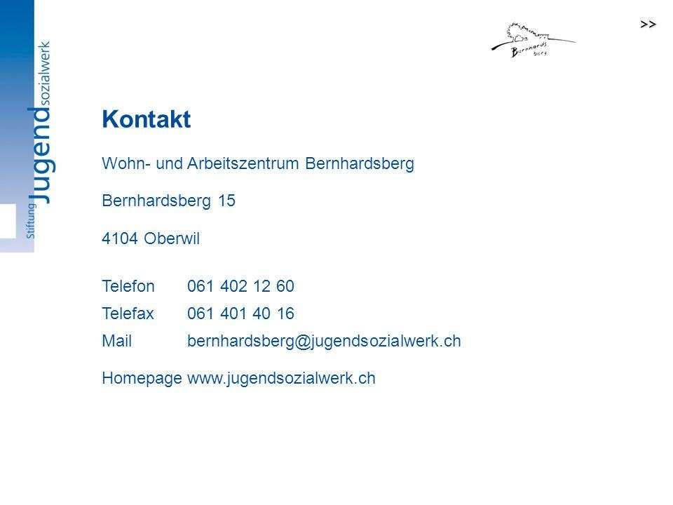 Kontakt Kontakt: Wohn- und Arbeitszentrum Bernhardsberg