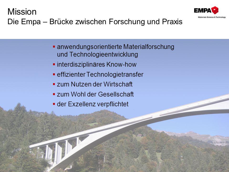 Mission Die Empa – Brücke zwischen Forschung und Praxis