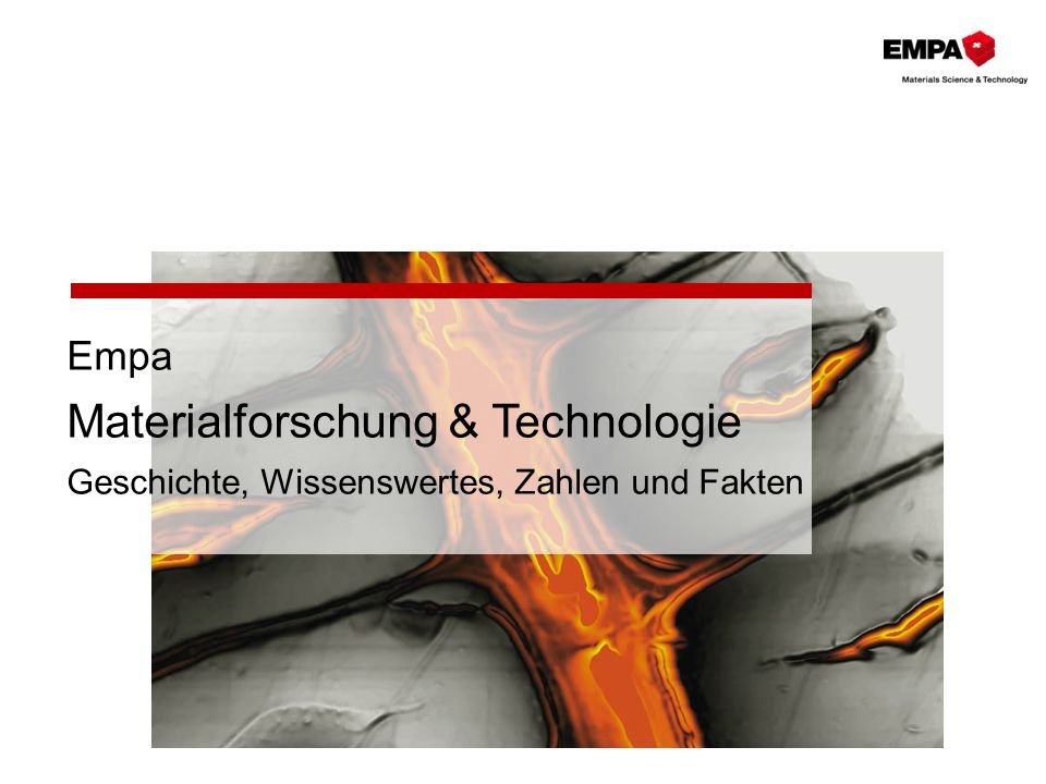 Empa Materialforschung & Technologie