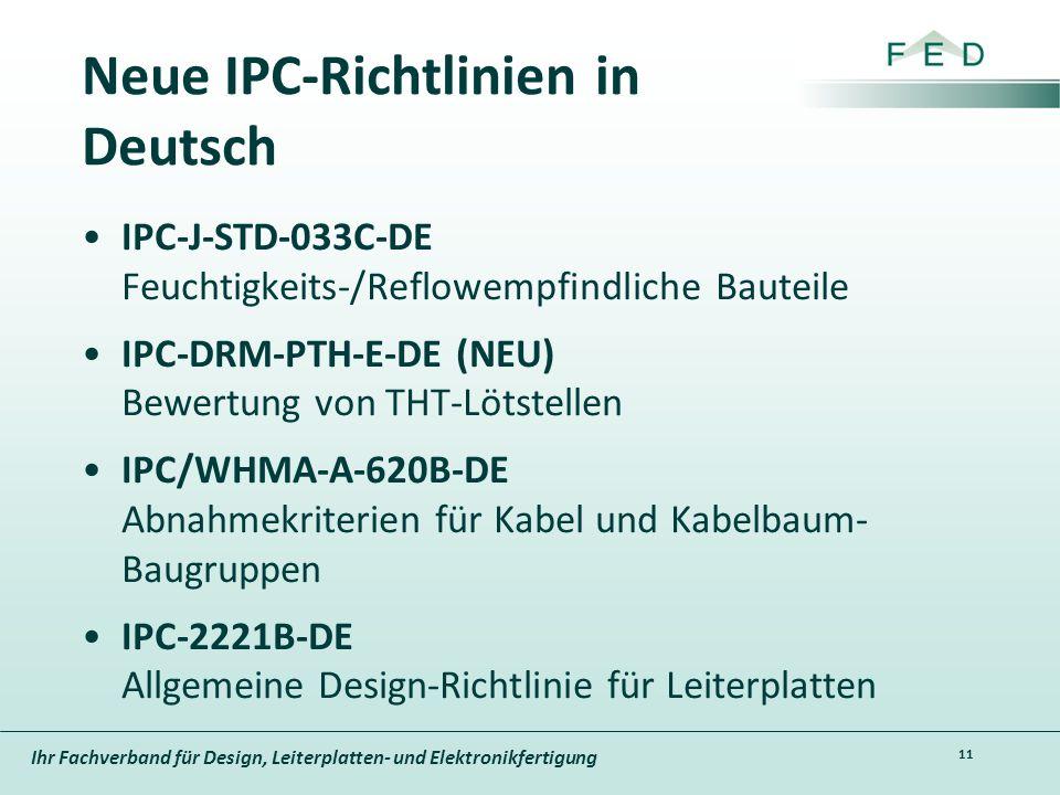 Neue IPC-Richtlinien in Deutsch