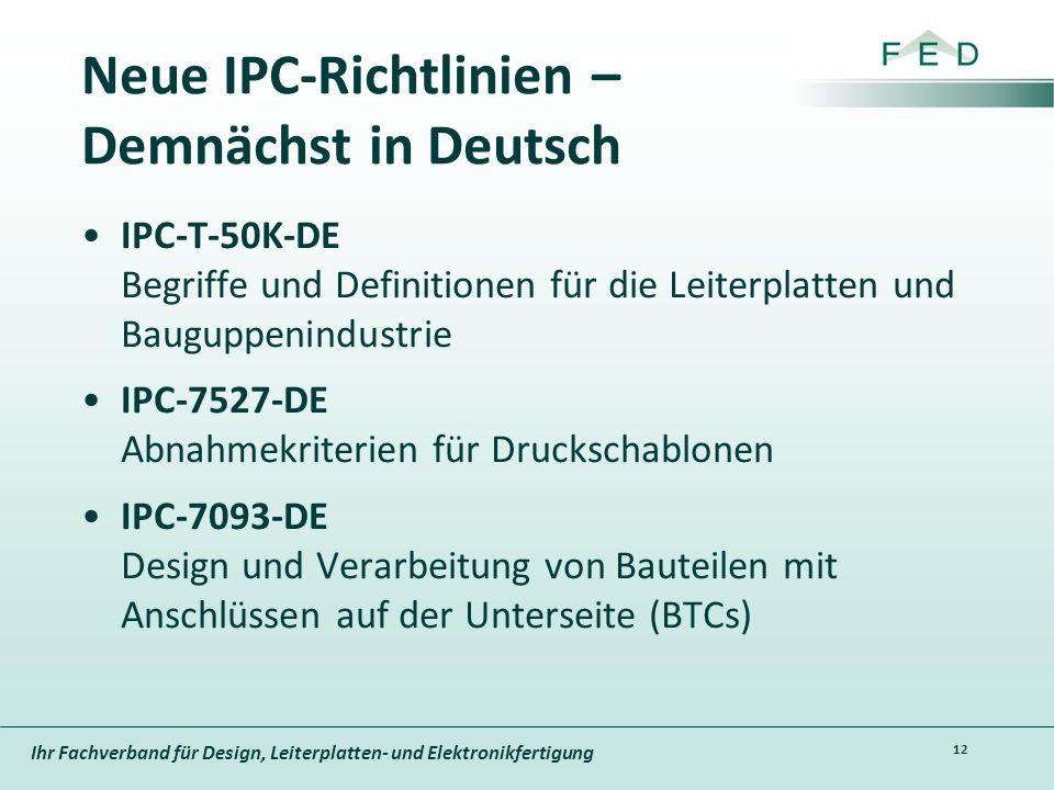 Neue IPC-Richtlinien – Demnächst in Deutsch